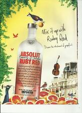 ABSOLUT RUBY RED. - 2006 Absolut Vodka print ad