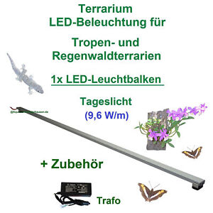 Terrarium LED-Beleuchtung 30cm - 200cm,LED Leuchtbalken,LED Pflanzenlicht, Terra