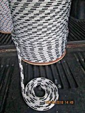 "1/2"" X 150' Sail,Halyard Line, Jib sheets, Anchor line double braid,White/4blk"