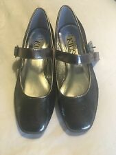 Girls M&S Silver Glitter Shoes Size 1