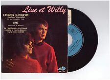 "#489 LINE ET WILLY ""A CHACUN SA CHANSON..."" + LANGUETTE - EX/EX - N°1200 - EP45T"