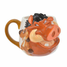Lion King Pumbaa & Timon Mug Cup Face Disney Store Japan