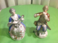 Vintage Pair Porcelain Figurines European Clothing Made In Occupied Japan
