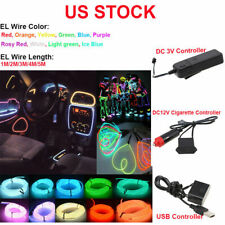 Neon LED Lamp Light Glow EL Wire String Strip Rope Tube Decoration 10 Colors