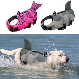 Dog Life Jacket Vest for Swimming and Boating Neoprene Shark Safety Saver Suit