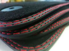 Fußmatten für Seat Alhambra II Original Doppelnaht rot-rot Premium Velours