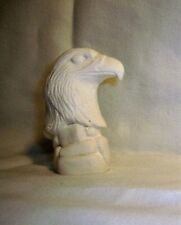 Bisque G528 15.2549  Ceramic Ready to Paint Eagle on Rocks Pie Pie Bird