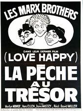 Affiche 51x67cm LA PECHE AU TRESOR /LOVE HAPPY 1950 Marx Brothers - Ressortie