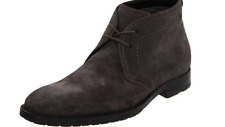 HUGO BOSS Men's CLENNO Chukka Dark Brown Suede Leather Ankle Boots Size 13 US