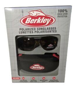 Berkley Polarized Sunglasses UVA/UVB 100% protection w/Hard Case Fishing NEW