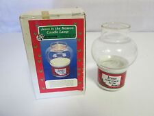 Holiday Candle Lamp JESUS IS THE REASON FOR THE SEASON 1988 Christmas Around