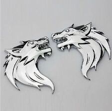 Car Decoration 3D Wolf Head Pattern Logo Metal 3D Emblem Decal 3M Sticker Badge(Fits: Alfa Romeo)