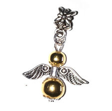 Gold Guardian Angel Silver Dangle Bracelet Charm Christmas Bridesmaid Birthday