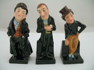 3 Royal Doulton Dickens Figures (small): Artful Dodger, Uriah Heep, Jingle