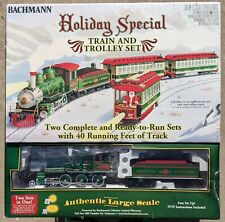 Bachmann ~ Holiday Special Train & Trolley Set The Original Big Haulers G Scale