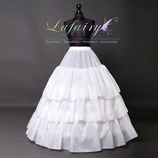 Reifrock Unterrock Petticoat verstellbar Gummiband dick groß weiß 3 Ringe 20LF