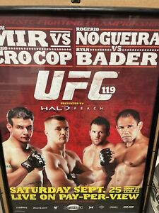 UFC 119 Promo Poster Authentic Ryan Bader Autographed Mir Nogueira Crocop Fight