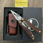 New, Leatherman Charge Plus Wood/Gold. Multitool with damascus blades