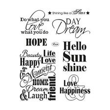 Viva Decor A5 Clear Silicone Stamps Set - Quotes 1 #142