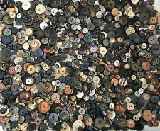 2.25+ lbs Black Grey Brown Buttons Assorted Vintage Antique Collect Crafts Sew C