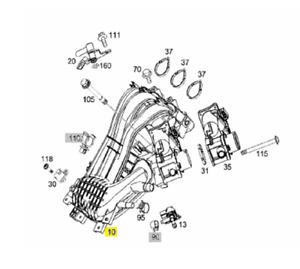 A1320160432 SMART 451 M132 E10 INTAKE MANIFOLD GENUINE NEW