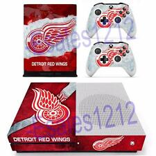 Xbox One S Slim Console Skin NFL Detroits Red Wings Decal Sticker Controller