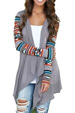 Women Cardigan Long Sleeve Knitted Sweater Outwear Loose Jacket Coat Tops Size S