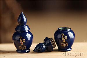 TIBETAN BUDDHISM GLAZE MINI BLUE PENDANT STUPA FOR HOLDING NECTAR PILLS SARIRA =