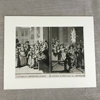 Picart Incisione Originale 18th Secolo Raro Antico Stampa Holland Cerimonia