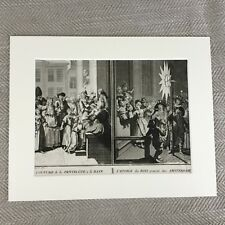 Picart Engraving Original 18th Century  Rare Antique Art Print Holland Ceremony