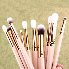 12 x Brochas De Maquillaje Base Polvo Sombra Ojos Delineador pincel Labios