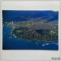 Diamond Head Crater Aerial View Postcard (P678)