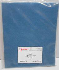 "Pack of 10 Johnson Abrasives A/O Wet-Cut 9"" x 11"" Sanding Paper 120-J #10605-10"