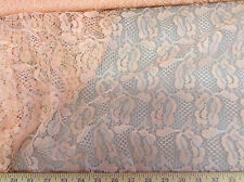 Payless Fabric Lace Intricate Salmon Pink Swatch Sample