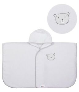 PONCHO/BATH ROBE, FOR KIDS, SOFT AND ABSORBENT, TERRY TOWEL -TEDS DESIGN
