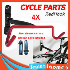 4 Sets Bike Bicycle Hanger Hook Wall Mounted Garage Storage Rack Mount Steel AU
