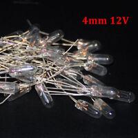 20pcs Miniature 4mm 12V Lamp Bulb Bombilla Incandescent Edison Antique 4mm Light