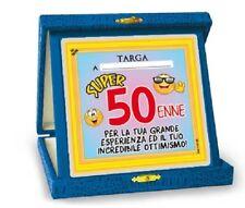 TARGHETTA TROFEO 50 ANNI Gadget idea regalo festa 50° Compleanno Targa