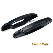 Black Outside Door Handle Front Pair Set For 07-13 CHEVROLET SILVERADO 20828237