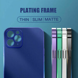 Case for iPhone 12 11 Pro Max 7 8 XS XR Square Edge Plating Shockproof TPU Cover