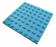 A Lego Medium Azur PLATE 8X8 - 6205088  (Parts & Pieces)