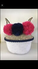 Seagrass Belly Basket Trendy Upcycled Brand New Storage Or Pot Plant Holder