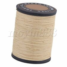 Craft DIY Flax Waxed Linen Sewing Wax Cord String Beige 0.55mm Dia
