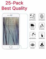 25-Pack For iPhone 6 / 7 / 8 Plus Tempered GLASS Screen Protector Bubble Free