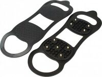 Highlander Snow & Ice Grippers Black Traction Thermoplastic Rubber UK3-6 or 7-12