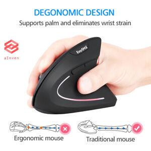 Wireless Vertical Ergonomic Optical Ergonomic Mouse 800/1200/1600 DPI, 5 Button