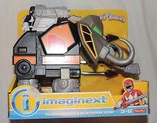NEW Fisher Price Imaginext Power Rangers Black Ranger Mastodon Zord