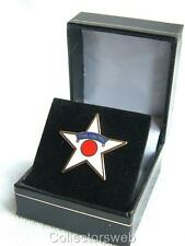 MILITARY ARMED FORCES ARCTIC CONVOY STAR VETERANS ENAMELLED LAPEL BADGE IN BOX