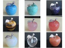 30x26mm Mixed gemstom rose quartz tiger eye apple decor home (sent ramdomly)