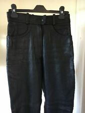 Leather Straight Leg Regular High Trousers for Women